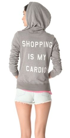 Shopping is My Cardio Hoodie