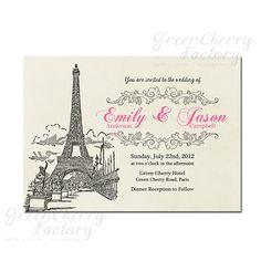 Paris Wedding Blue Eiffel Tower Bridal Shower Card Cards And