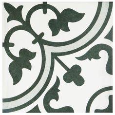 Merola Tile Arte Grey 9-1/2 in. x 9-1/2 in. Porcelain Floor and Wall Tile (10.76…