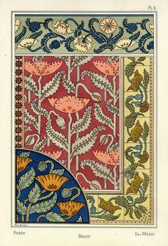 Eugene Grasset, Pochoir Prints, 1896