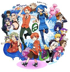 Nemo  some of these characters are frm different animes like ouran high school host club and fruit basket