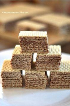 Wafle z masą kakaową