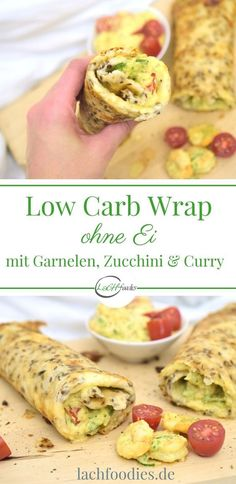 Low Carb Wrap (without egg) with curry-shrimp filling- Low Carb Wrap (ohne Ei) mit Curry-Garnelen-Füllung Lachfoodies Low Carb Wrap Eat Healthy Without … - Low Carb Lunch, Low Carb Dinner Recipes, Paleo Dinner, Low Carb Diet, Lunch Recipes, Diet Recipes, Healthy Recipes, Menu Dieta Paleo, Cena Paleo