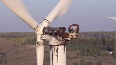 Wind Energy Farm Turbine Destroyed, Damaged by Fire After Lightning Strike, Windmill, Energy Electrical Tools, Lightning Strikes, Windmill, Invite, Weird, Landscape, Electric Power Tools, Scenery