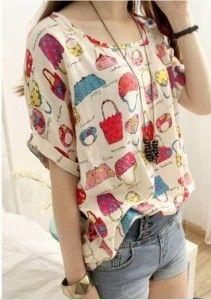 Una blusa fácil de hacer y que puede ser utilizado por delgadas y gordas.  Sólo que no es bueno para aquellos con hombros anchos (triángulo invertido).  Siga moldes número 36-58.