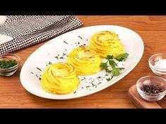 Kartoffelnester mit herzhafter Käse- und Schinken-Füllung als kleiner Snack.