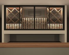 VintageKeeping Glass Wine Cellar, Wine Glass, Caves, Facade, New Homes, Stairs, Display, Room, House