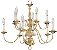 Buy the Quorum International Polished Brass Direct. Shop for the Quorum International Polished Brass Williamsburg 10 Light Chandelier and save. Brass Chandelier, Chandelier, Crystal Chandelier, Candle Style Chandelier, Contemporary Glass Art, Chandelier Picture, Chandelier Lighting, Light, Colonial Lighting