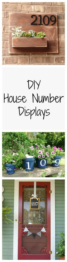 Add some character to your home's exterior with these cute and easy DIY house number displays.