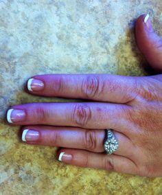 French manicure wraps by Sara