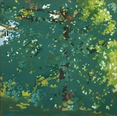 "Fairfield Porter, ""The Plane Tree"", oii on canvas, 50x50, 1964."