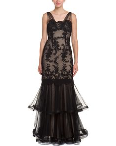 Spotted this Teri Jon by Rickie Freeman Black Lace Gown on Rue La La. Shop (quickly!).
