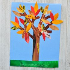 fall trees If you love finding fun ways to recycle materials into crafts you are going to love this magazine fall tree craft. A beautiful fall kids craft. Fall Paper Crafts, Fall Arts And Crafts, Easy Fall Crafts, Fall Crafts For Kids, Kids Crafts, Art For Kids, Scarecrow Crafts, Fox Crafts, Tree Crafts