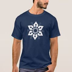 Star of Christmas Winter Ice Crystal Snowflake T-Shirt