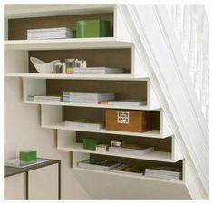 19 trendy under stairs storage cheap Understairs Storage cheap stairs storage Tr… - Popular Stair Shelves, Staircase Storage, Diy Storage Shelves, Under Stair Storage, Shelves Under Stairs, Cheap Storage, Office Storage, Hidden Storage, Under Stairs Pantry Ideas