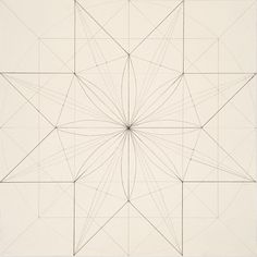 Lena Wolff  Eight Pointed Star, 2011 pencil on paper