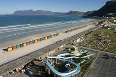 Muizenberg - water slides on beach front. - Cape Town