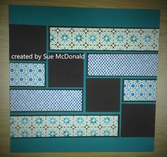 Moroccan DSP Stampin' Up! scrapbook layout
