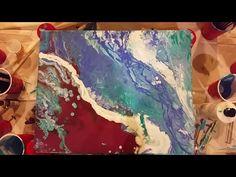 Fluid-Art. 6 flip cup challenge. Ocean theme - YouTube