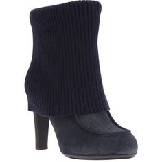 HOGAN Ribbed Ankle Boots ($496) found on Polyvore