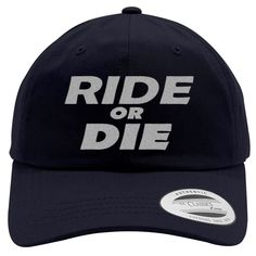 Ride Or Die Embroidered Cotton Twill Hat