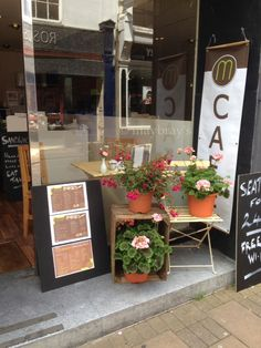This is the front of our cafe in Barnstaple giving it the Bistro look that we love. #cafe #barnstaple #bistro