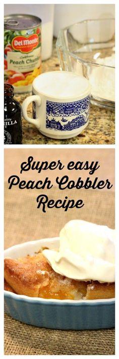 Easy Peach Cobbler Recipe #recipe #peache - Refresh Restyle