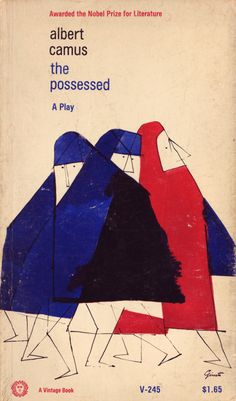 George Giusti, cover for The Possessed by Albert Camus (Vintage, 1964)