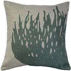 Pillow Decor - Kukamuka Luonto Scandinavian Hay Throw Pillow (Green) - 19 x 19 (Polyester, Floral) Green Throw Pillows, Throw Pillow Sets, Decorative Throw Pillows, Pillow Covers, Scandinavian Pillows, Scandinavian Style Home, Felt Pillow, Machine Wash Pillows, Pillow Arrangement