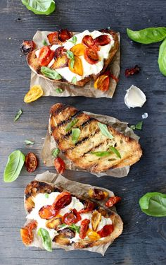 Burrata Bruschetta Recipe , the best rustic Italian garlic bread on the planet, garlic, burrata, bread, roasted tomatoes, heaven ! | Ciaoflorentina.com