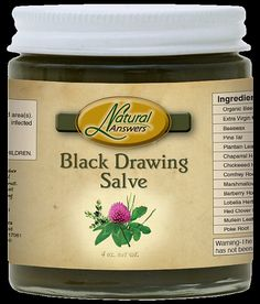 Black Drawing Salve For Toxins Impurities by NaturalHopeHerbals  Pine Tar is the key ingredient that gives this old timey salve its dark brown color and unique odor.  Ingredients: Organic Tallow, Extra Virgin Olive Oil, Beeswax, Pine Tar, Fresh Plantain Leaf, Chapparal Herb, Fresh Chickweed Herb, Comfrey Root, Marshmallow Root, Barberry Root Bark, Lobelia Herb, Red Clover Blossoms, Mullein Leaf, Poke Root, Rosemary Leaf.