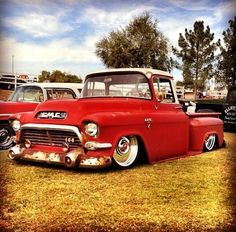vintage real nice RED GMC truck