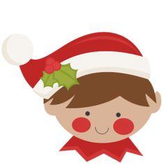 Christmas Elf: Miss Kate Cuttables-- SVG scrapbook cut file cute clipart files for silhouette cricut pazzles free svgs free svg cuts cute cut files