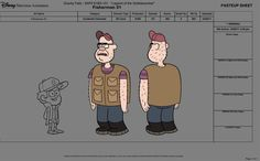 "Here's some of my designs from Gravity Falls : ""Legend of the Gobblewonker"". This was the first episode we made. Designing the ""Gobblewonker"" was challenging because it had to establish how we would treat monster designs throughout the series."