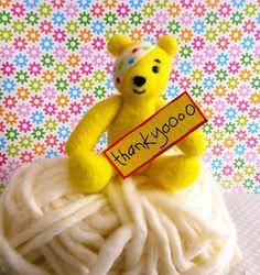 Pudsey thanks his bidders! Teddy Bears, Tweety, Thankful, Fictional Characters, Art, Art Background, Kunst, Performing Arts, Fantasy Characters