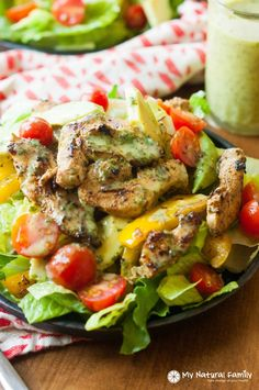 Gluten Free Sizzling Cilantro Lime Fajita Salad with Honey Lime Vinaigrette Recipe