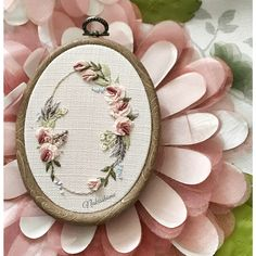 Wonderful Ribbon Embroidery Flowers by Hand Ideas. Enchanting Ribbon Embroidery Flowers by Hand Ideas. Learn Embroidery, Silk Ribbon Embroidery, Embroidery For Beginners, Embroidery Hoop Art, Hand Embroidery Patterns, Cross Stitch Embroidery, Embroidery Supplies, Cross Stitches, Bordado Floral