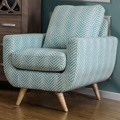Such a fun fabric! Bedroom chair??