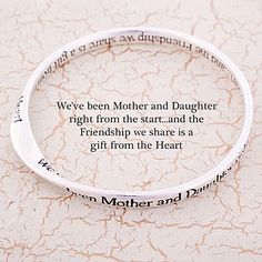Mother And Daughter Message Bangle - gifts under £25