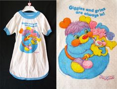 vintage 80s girls POPPLES character t shirt NIGHTGOWN