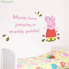 Our Official Peppa Pig Wall Stickers Are Perfect For Creating A Peppa Pig  Themed Bedroom Or Playroom. Part 55