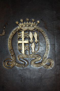 Armorial Book Cover belonging to Lady Rachel Fane, Countess of Bath, daughter of Sir Francis Fane, Earl of Westmorland