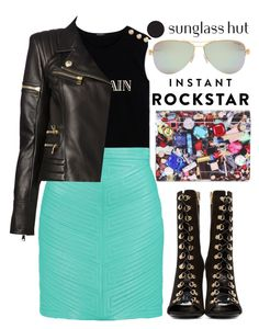 """""""Shades of You: Sunglass Hut Contest Entry"""" by alaria ❤ liked on Polyvore featuring Balmain, Tiffany & Co., Jimmy Choo and shadesofyou"""