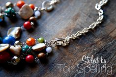 Styled by Tori Spelling - DIY jewelry @Heather Creswell {WhipperBerry}