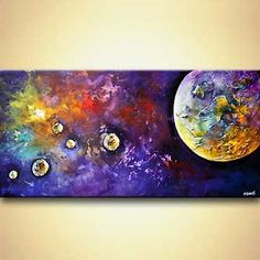 Abstract painting - Birth of a Planet