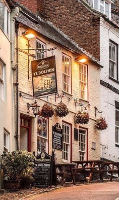 Ye Dolphin Robin Hoods Bay British Store, British Pub, Store Front Windows, Restaurants, Trading Places, Old Pub, Pub Crawl, Shop Fronts, City Streets