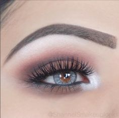 Makeup Geek Eyeshadows in Americano and Fashion Addict. Look by: ShannelSmakeuplooks