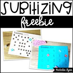Subitizing is the perfect way to help students build number sense and see numbers in different ways! Both activities included would be great as centers or in small groups. Subitizing Station - Students will roll a die and cover those dots with their counter.