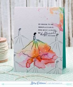 Be Different Card by Betsy Veldman for Papertrey Ink (August 2015)