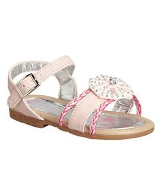 Love this Pink Studded Bow Sandal on #zulily! #zulilyfinds